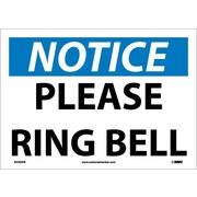 Notice, Please Ring Bell, 10X14, Adhesive Vinyl