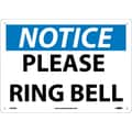 Notice, Please Ring Bell, 10X14, Rigid Plastic