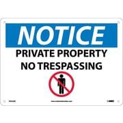 Notice, Private Property No Trespassing,  Graphic, 10X14, .040 Aluminum
