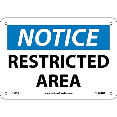 Notice, Restricted Area, 7