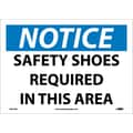 Notice, Safety Shoes Required In This Area, 10X14, Adhesive Vinyl