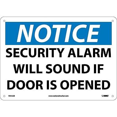 Notice, Security Alarm Will Sound If Door Is Opened, 10