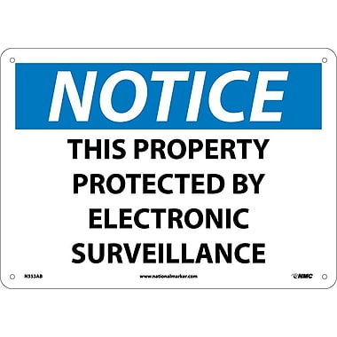 Notice, This Property Protected By Electronic Surveillance, 10