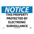 Notice, This Property Protected By Electronic Surveillance, 10X14, Adhesive Vinyl