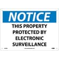 Notice, This Property Protected By Electronic Surveillance, 10X14, Rigid Plastic