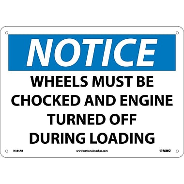 Notice, Wheels Must Be Chocked And Engine Turned Off During Loading, 10