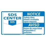Notice, Material Safety Data Sheets Available Upon Request, (Graphic), Bilingual, 10X18