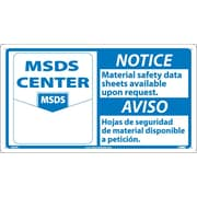 Notice, Material Safety Data Sheets Available Upon Request, (Graphic), Bilingual