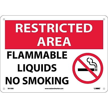 Restricted Area, Flammable Liquids No Smoking, Graphic, 10