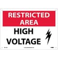 Restricted Area, High Voltage, Graphic, 10X14, .040 Aluminum