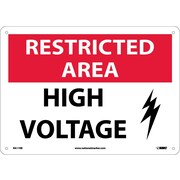 Restricted Area, High Voltage, Graphic, 10X14, Rigid Plastic
