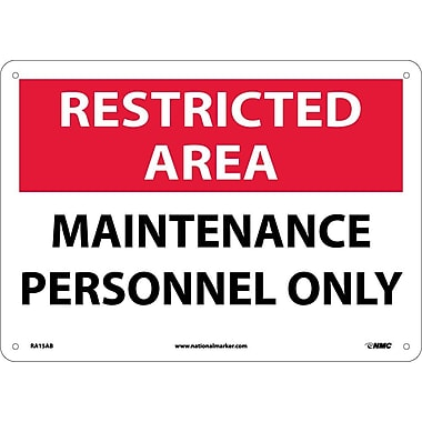 Restricted Area, Maintenance Personnel Only, 10