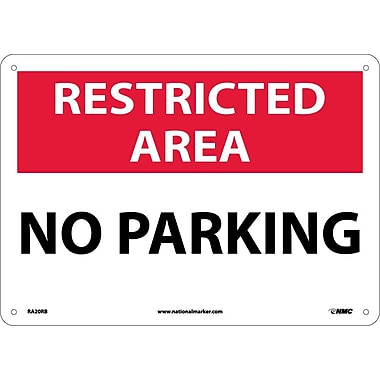 Restricted Area, No Parking, 10X14, Rigid Plastic
