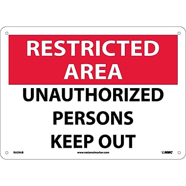 Restricted Area, Unauthorized Persons Keep Out, 10