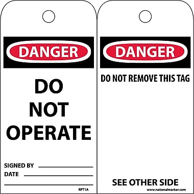 Accident Prevention Tags Danger Do Not Operate, 6