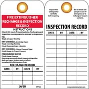 Accident Prevention Tags, Fire Extinguiser Recharge And Inspect.