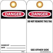 Accident Prevention Tags Danger 6X3 Unrip Vinyl 25/Pk W/ Grommet