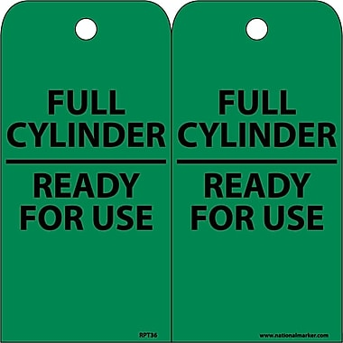 Accident Prevention Tags, Full Cylinder Ready For Use, 6X3, Unrip Vinyl, 25/Pk