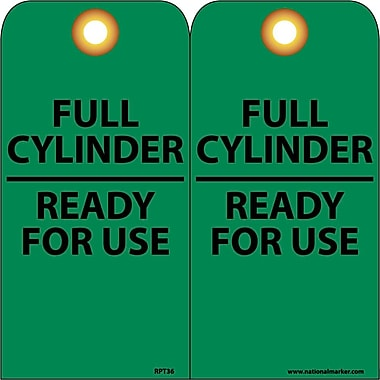 Accident Prevention Tags, Full Cylinder Ready for Use, 6