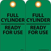 Accident Prevention Tags, Full Cylinder Ready For Use, 6X3, Unrip Vinyl, 25/Pk W/ Grommet