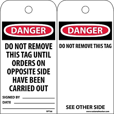 Accident Prevention Tags, Danger Do Not Remove This Tag Until..., 6