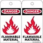 Accident Prevention Tags, Danger Flammable Material, 6X3, Unrip