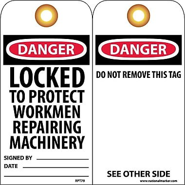 Accident Prevention Tags, Danger Locked To Protect Workmen Repairing..., 6