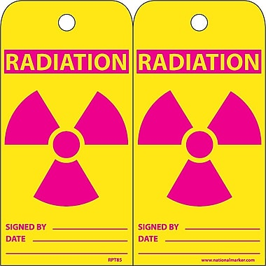 Accident Prevention Tags, Radiation, 6