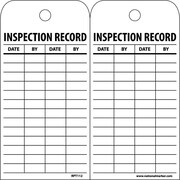 Accident Prevention Tags, Inspection Record, 6X3, Unrip Vinyl, 25/Pk