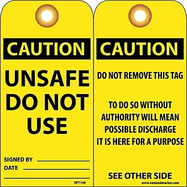 Accident Prevention Tags Unsafe Do Not Use, 6