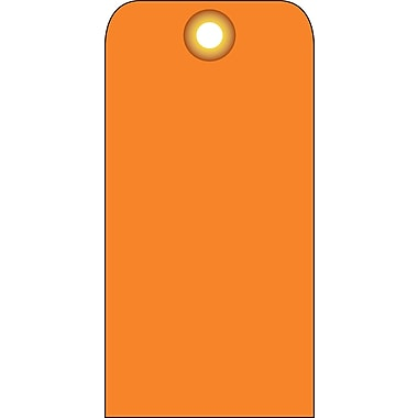 Accident Prevention Tags, Orange Blank, 6