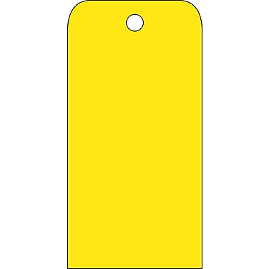 Accident Prevention Tags, Yellow Blank, 6X3, .015 Mil Unrip Vinyl, 25 Pk
