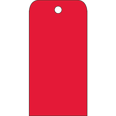 Accident Prevention Tags, Red Blank, 6