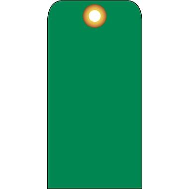 Accident Prevention Tags, Green Blank, 6X3, .015 Mil Unrip Vinyl, 25 Pk W/ Grommet