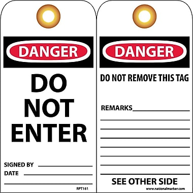 Accident Prevention Tags, Do Not Enter,, 6