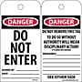 Accident Prevention Tags, Danger, Do Not Enter, 6X3,