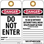 Accident Prevention Tags, Danger, Do Not Enter, 6X3,