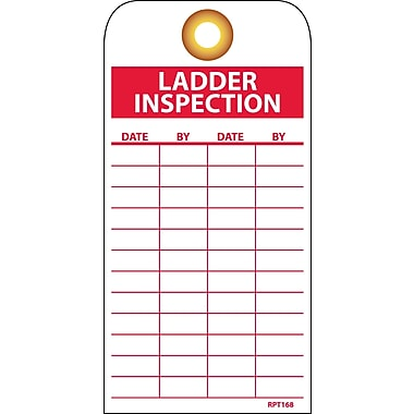 Accident Prevention Tags, Ladder Inspection, 6