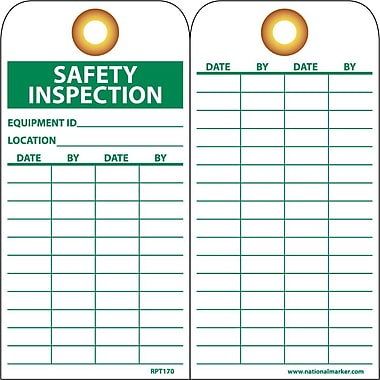 Accident Prevention Tags, Safety Inspection, 6