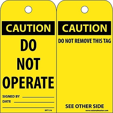 Accident Prevention Tags, Caution,