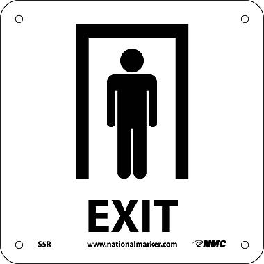 Exit (W/ Graphic), 7X7, Rigid Plastic