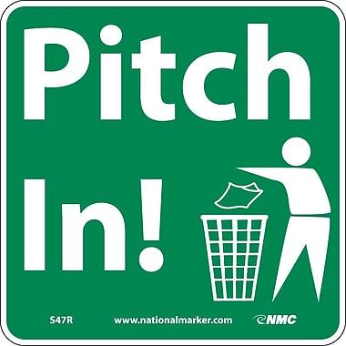 Pitch In (W/ Graphic), 7X7, Rigid Plastic