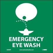 Emergency Eye Wash (Graphic), 4X4, Adhesive Vinyl, Labels sold in 5/Pk