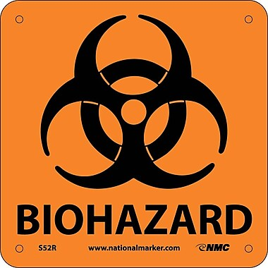 Biohazard (W/ Graphic), 7X7, Rigid Plastic