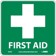 First Aid (W/ Graphic), 7X7, Rigid Plastic