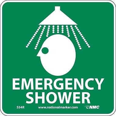 Emergency Shower (W/ Graphic), 7X7, Rigid Plastic