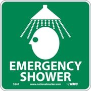 Emergency Shower (W/ Graphic), 7X7, Rigid Plastic