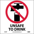 Unsafe To Drink, 4X4, Adhesive Vinyl, Labels sold in 5/Pk