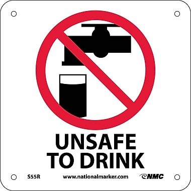 Unsafe To Drink (W/ Graphic), 7X7, Rigid Plastic