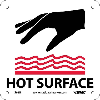 Hot Surface (W/ Graphic), 7X7, Rigid Plastic